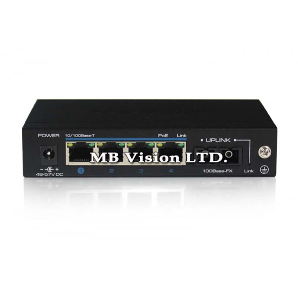5-портов PoE мрежови комутатор UTEPO UTP3-SW04-FP60