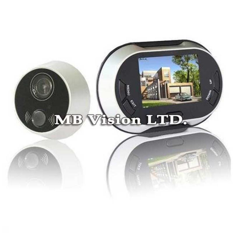 Мини камера шпионка за врата с дисплей Cv Dv112 Mbvision Com