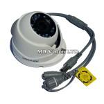 HD 1MP куполна камера 4-в-1 Hikvision DS-2CE56C0T-IRMF, IR до 20м