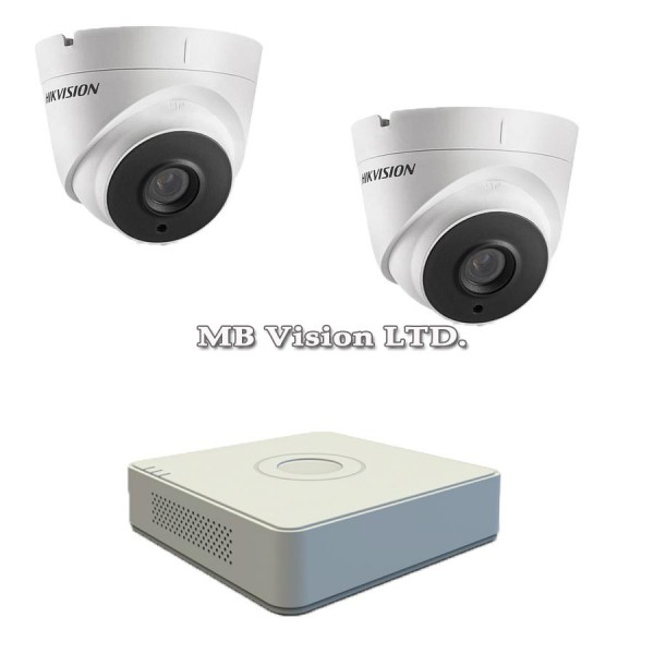 FullHD комплект за видеонаблюдение с 2 камери и DVR Hikvision