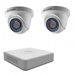 Комплект с 2 HD вътрешни камери + HD ДВР Hikvision