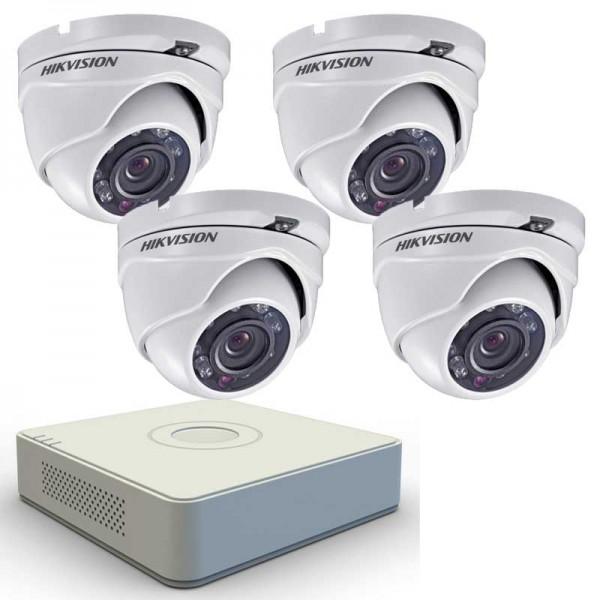 Комплект с 4 HD външни камери IR + HD ДВР рекордер