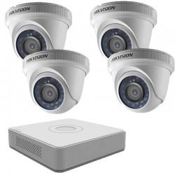 Комплект с 4 HD вътрешни камери + HD ДВР Hikvision