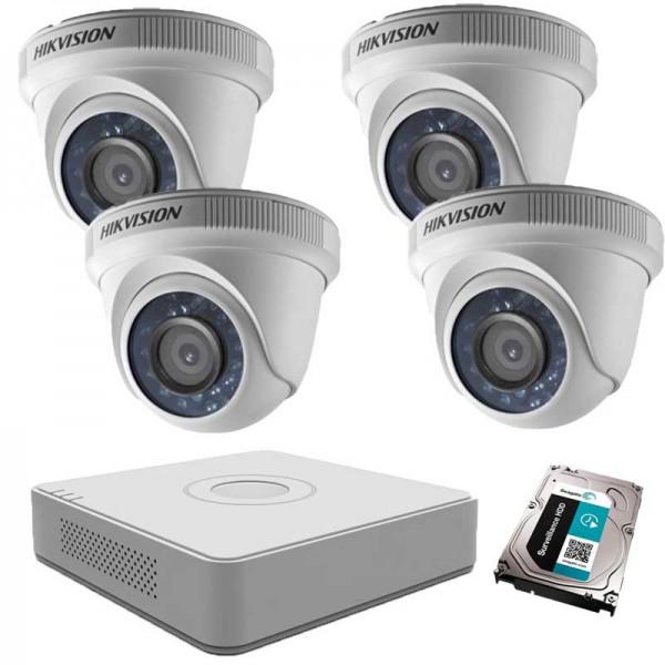 Комплект с 4 HD вътрешни камери + DVR + 1TB HDD