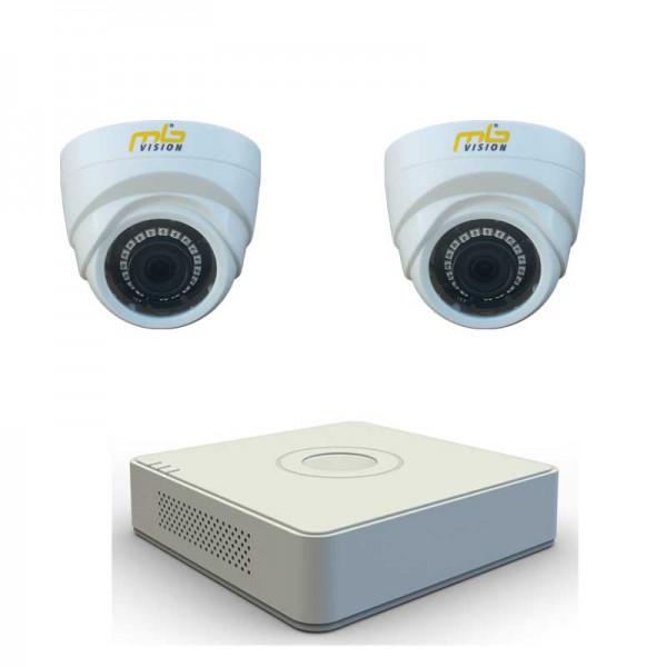 Комплект с 2 HD вътрешни камери + HD ДВР рекордер
