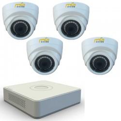 Комплект с 4 HD вътрешни камери IR + HD ДВР рекордер