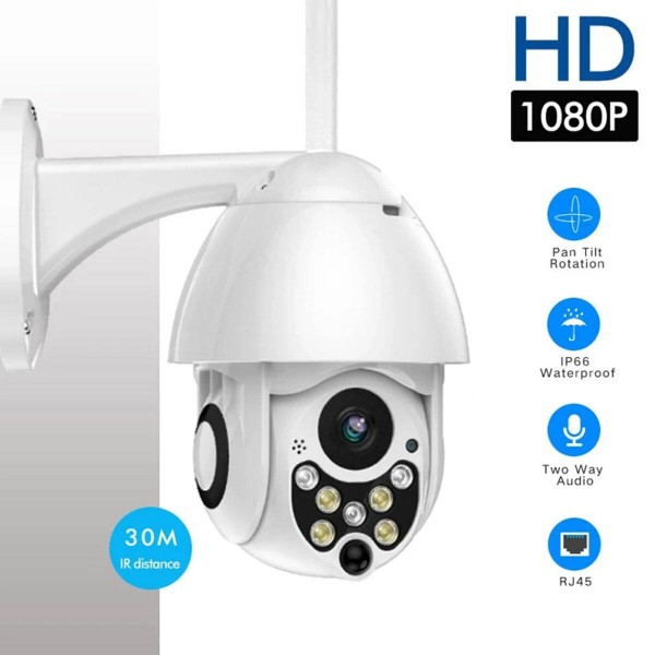 Wi-Fi 2MP IP PTZ камера