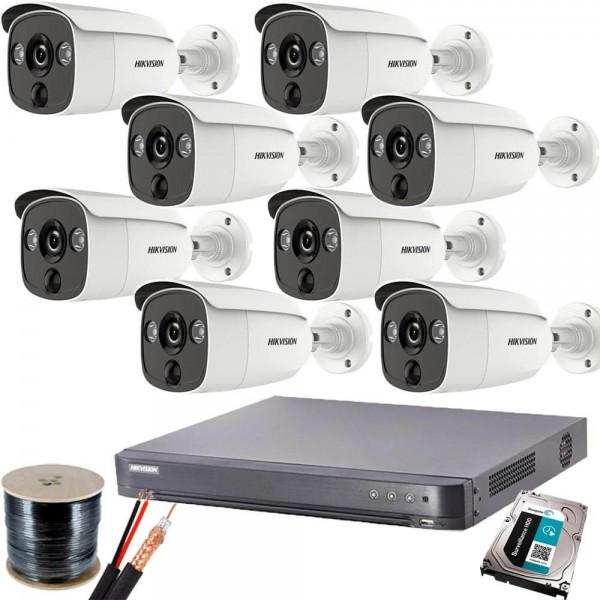 Пълен Full HDкомплект 8 камери, DVR Hikvision и всичко нужно