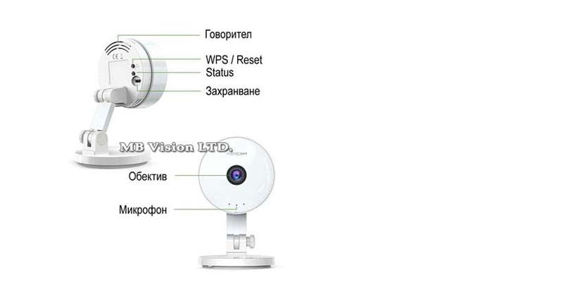 Безжична камера за дома, офиса и бейбифон
