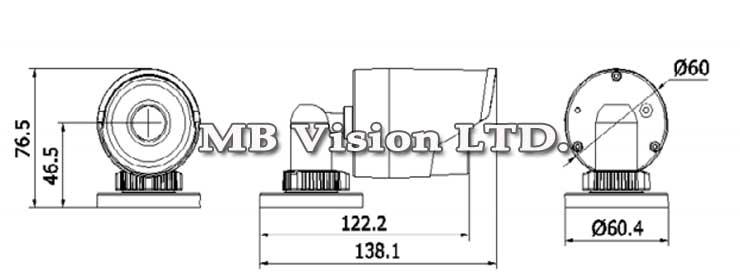 Размер Hikvision, 1.3MP с IR до 30m DS-2CD2010-I