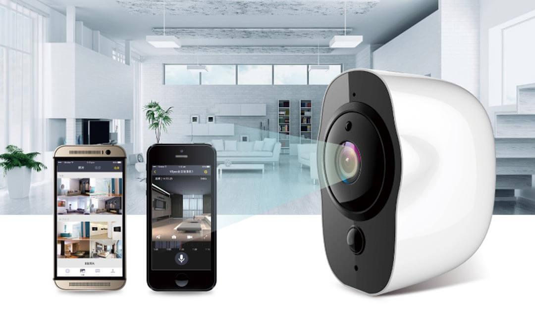 Wi-Fi камера с вградена батерия, микрофон и говорител